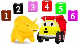 Learn numbers with Dino the Dinosaur and Ethan the Dump Truck | Educational cartoon for children
