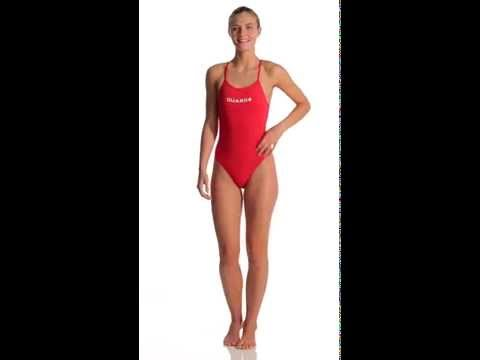 85773b3b18af2 TYR LifeLifeguard Durafast Lite Crosscutfit One Piece Swimsuit |  SwimOutlet.com - YouTube