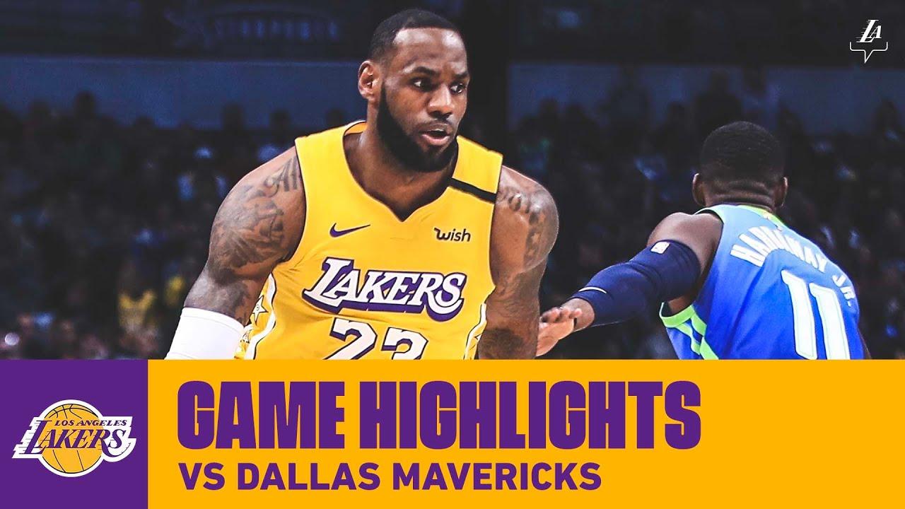 Highlights Lebron James 35 Pts 16 Reb 7 Ast At Dallas Mavericks