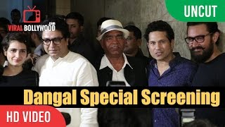 UNCUT - Dangal Special Screening | Aamir Khan, Mahavir Singh Phogat, Sachin Tendulkar, Raj Thackeray