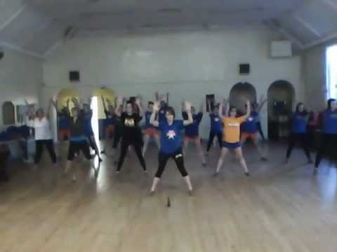 CARDIFF CHEERLEADERS & DANCERS - ACADEMY ALLSTARS - Rehearsals for Show 1 - 2011