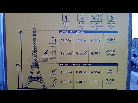 Torre Eiffel de PARÍS - Explicación de los precios de las entradas
