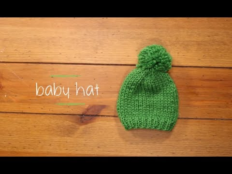 a3aae9042 Knit Baby Hat with pattern | 1 Hour Knitting Project Knitting ...