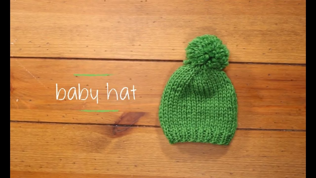 Knit Baby Hat with pattern | 1 Hour Knitting Project Knitting ...