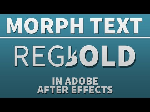 Morph Text From Regular to Bold - Adobe After Effects tutorial