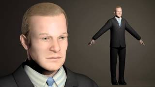 Busieness Suit Man test render