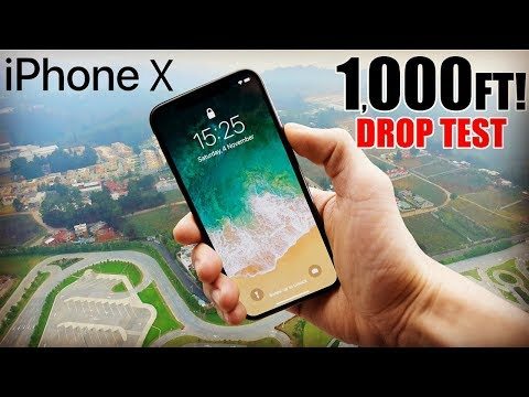 iPhone X Drop Test - 1000 FEET!! | Did it survive? | in 4K!