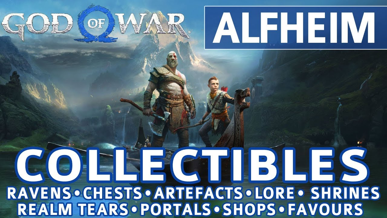 God Of War Alfheim All Collectible Locations Ravens Chests Artefacts Shrines 100