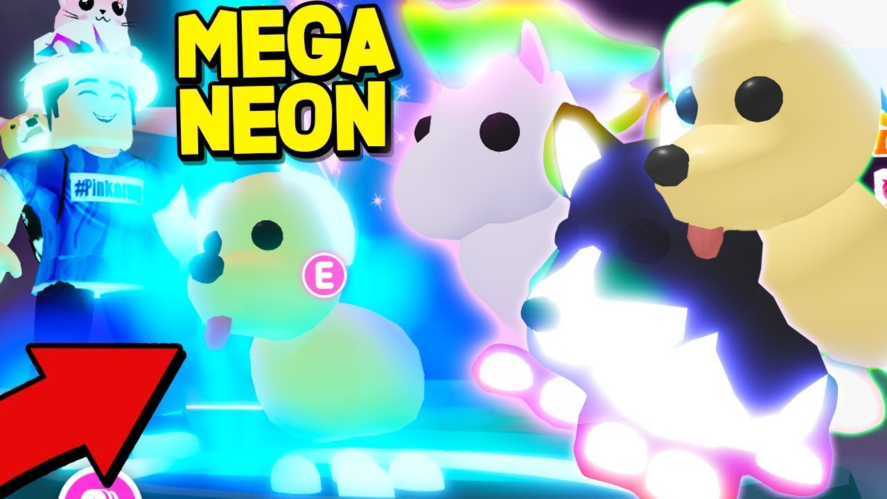 New Free Mega Neon Pets In Adopt Me Update Max Upgrade Roblox Youtube
