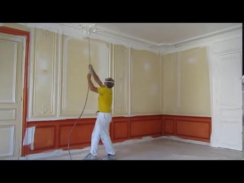 devis 24h travaux peinture int rieurs pistolet airless sans brouillard artisan pistolage. Black Bedroom Furniture Sets. Home Design Ideas