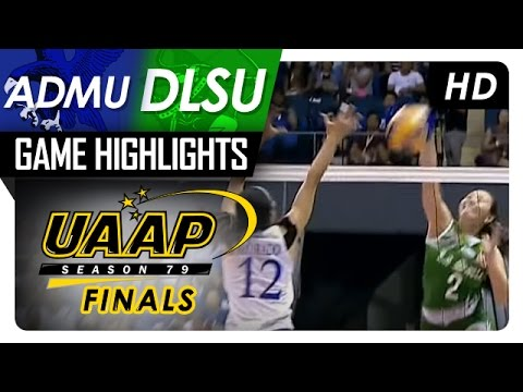 ADMU vs DLSU | Finals Game 1 | Game Highlights | UAAP 79 WV | May 2, 2017