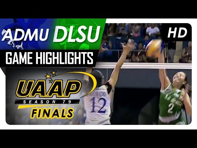 ADMU vs DLSU | Finals Game 1 | Game Highlights | UAAP 79 WV | May 2, 2017