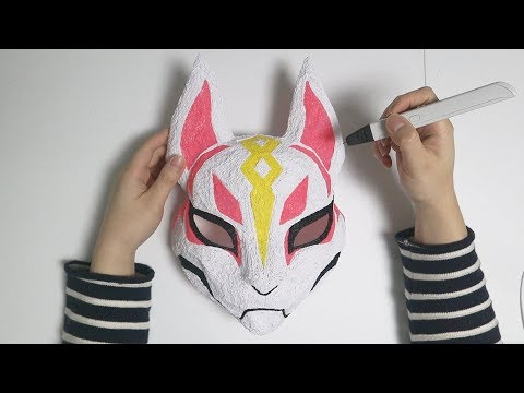 3D Pen Making Fortnite Drift Mask (+ Paper craft) 3d 펜 만들기 포트나이트 드리프트 마스크 + 페이퍼