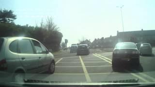 Bad Driving UK - Elderly and impatient driver hazard