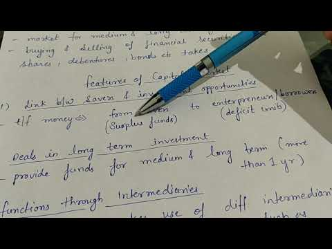 Capital market & its features (class 12)
