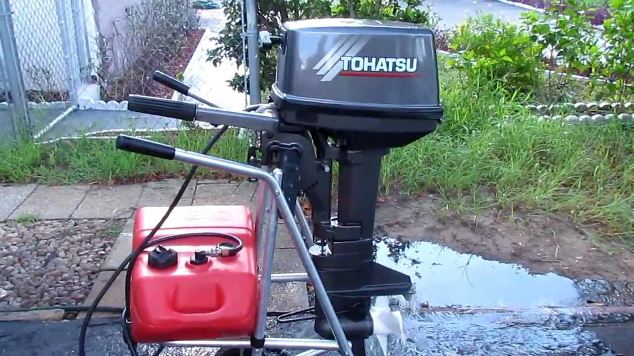 how to change oil in a tohatsu 9.8 outboard