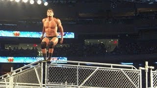 Cody Rhodes' amazing moonsault from the top of a cage at MSG!