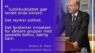 Justisbudsjettet 2016, 17.12.2015
