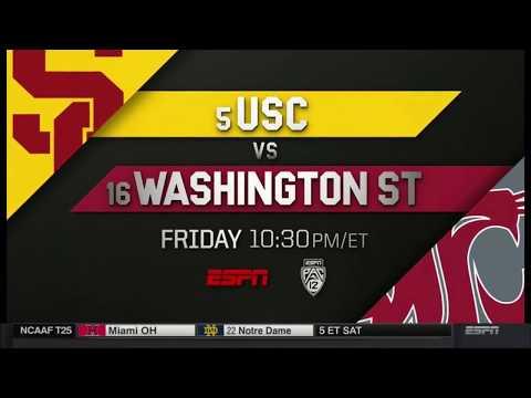 USC @ WSU ESPN College Football Primetime 2017