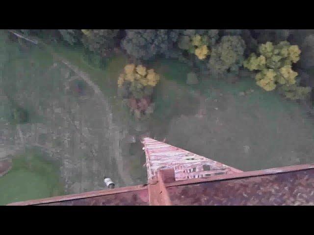 climbing tower 150m výstup na kotvený stožár