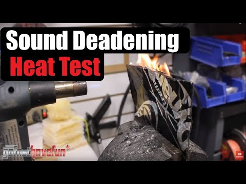 Dynamat vs Sound Deadening Material Alternative (Roofing Membrane) Heat Test