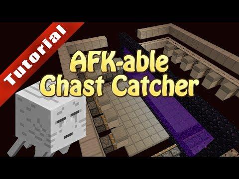 Minecraft Tutorial: AFK-able Ghast...