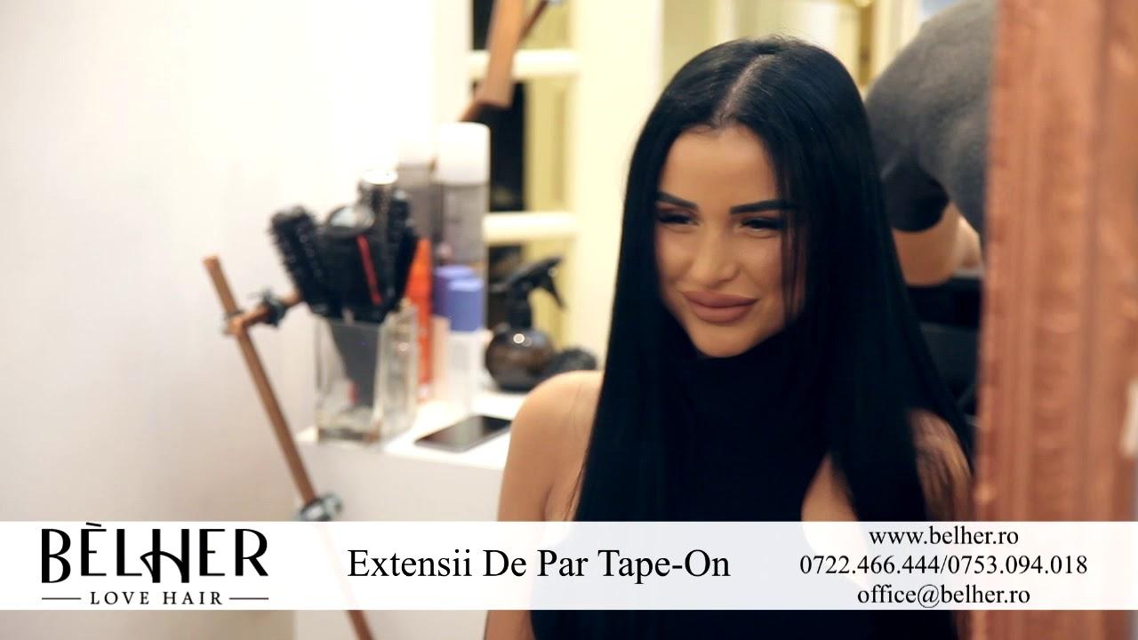Extensii Tape On Vip Belher W Daniela Crudu Youtube
