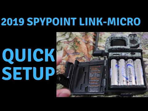 2019 SPYPOINT LINK MICRO CELLULAR TRAIL CAMERA  QUICK SETUP