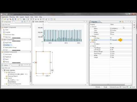 Bind properties of standard components to data source: Design Studio 1.5
