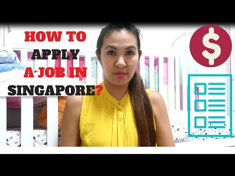 HOW TO APPLY A JOB IN SINGAPORE?