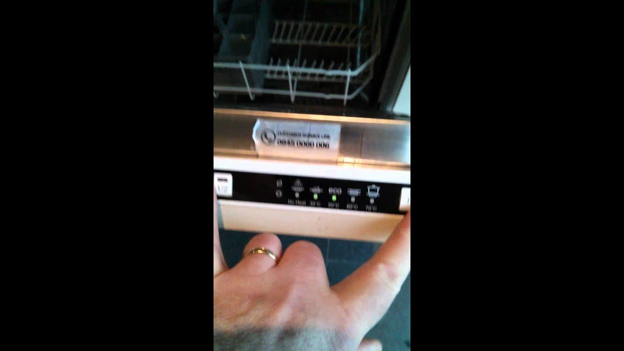 Lamona Dishwasher 8601 Green Lights 23 Flashing Together Fault Help