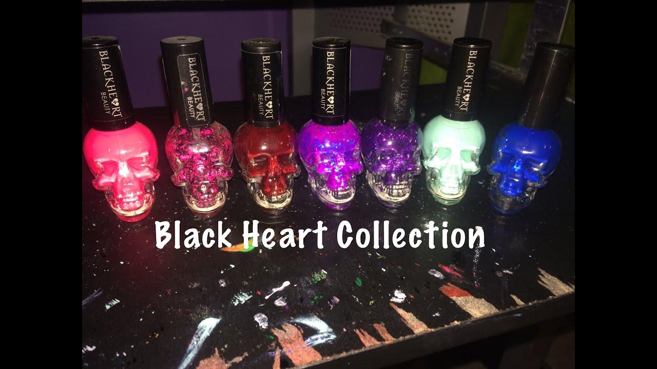 BLACK HEART NAIL POLISH COLLECTION - YouTube
