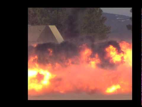 High speed video of explosions at Los Alamos National Lab on March 30, 2010