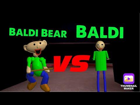 Baldi Bear VS Baldi! (Roblox Bear Alpha)