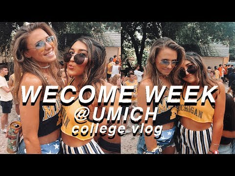 WELCOME WEEK at UNIVERSITY OF MICHIGAN | college week in my life! first week of college 2018!