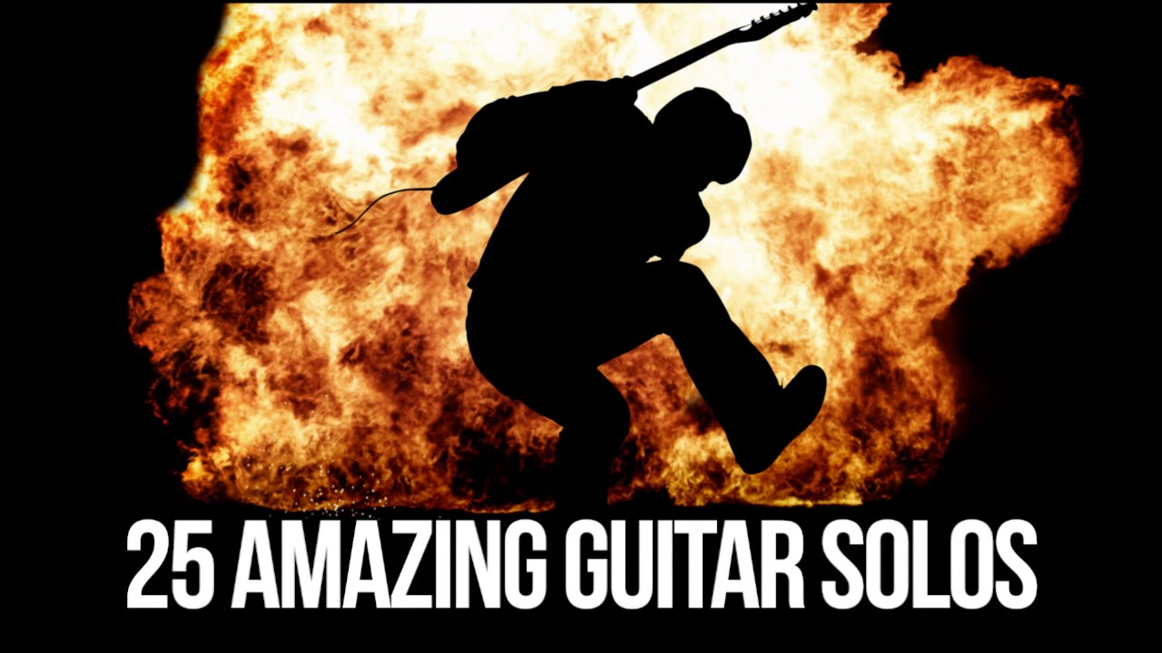 25 Amazing Guitar Solos - Karl Golden - YouTube