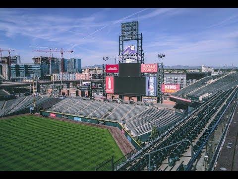 Inside MLB Denver Colorado Rockies Tour 2017 // Downtown Colorado - 4k