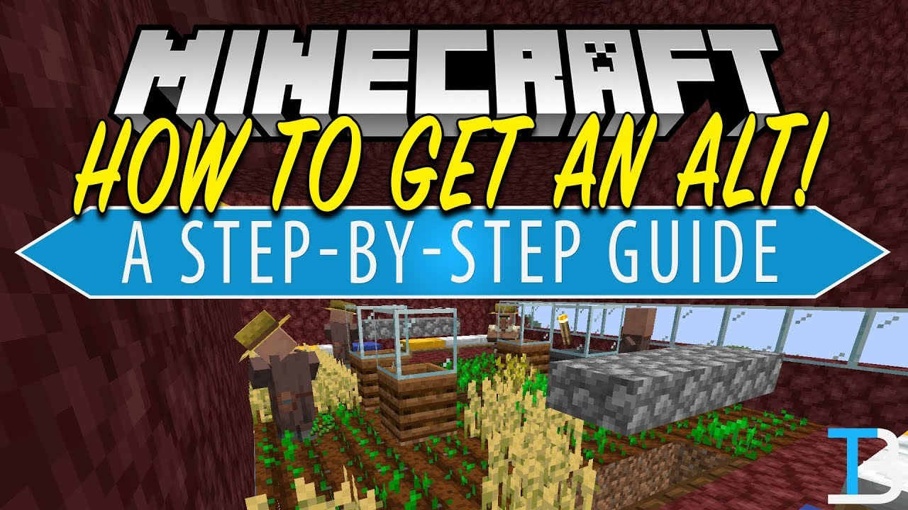 How To Get A Minecraft ALT Account (Run Two Minecraft Accounts at The Same  Time!)
