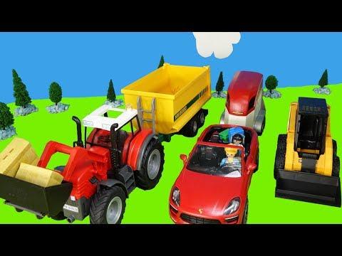 Playmobil Traktor & Bagger - Kinderfilm mit Bauernhof, Pferdekoppel, Reitturnier, Streichelzoo
