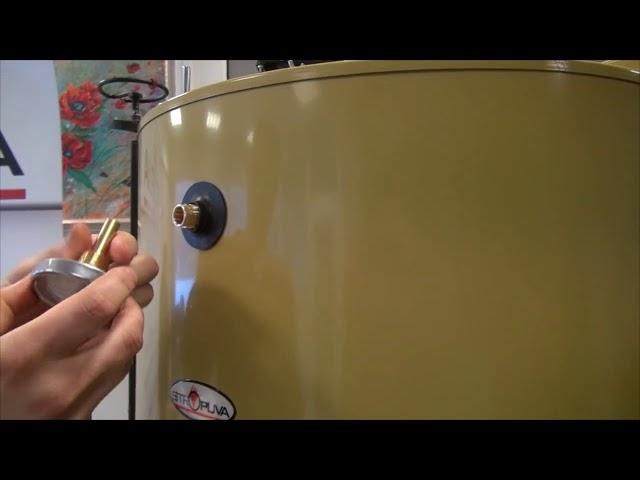 Montare, instalare termometru centrale pe lemne Stropuva