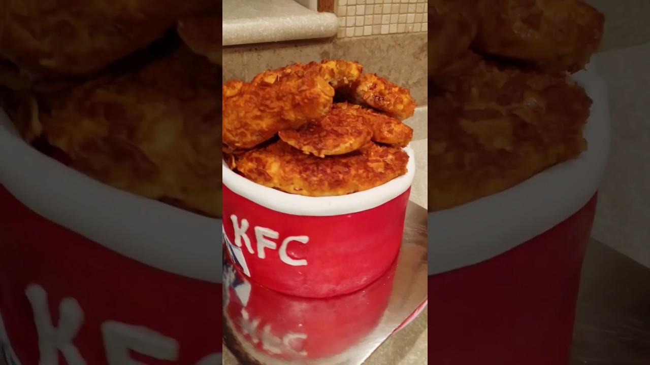 Empty bucket of chicken