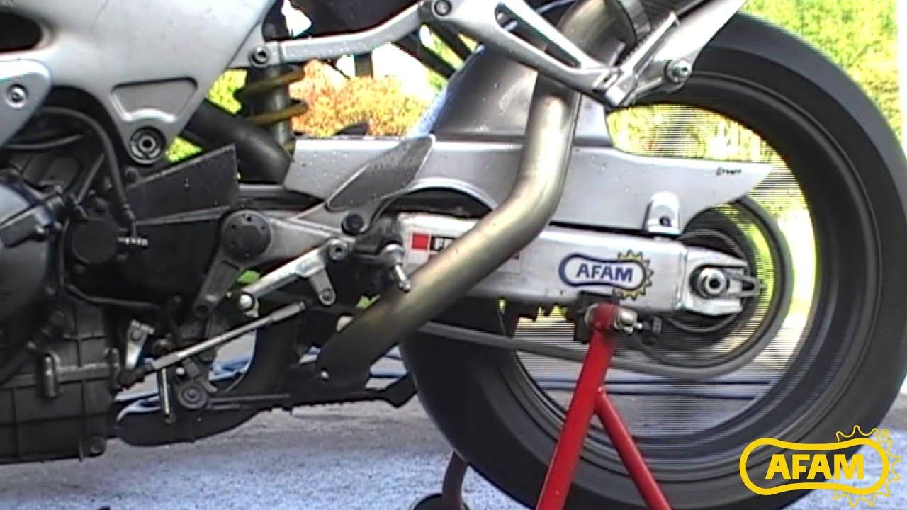 AFAM Chaîne Beta Evo 250 2 T Bj 2013 Rouleaux Chaîne 520mr2-g or//noir clip