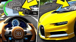 City Car Driving 1.5.8 - Bugatti Chiron | Fast Driving, Normal Driving, Street Racing