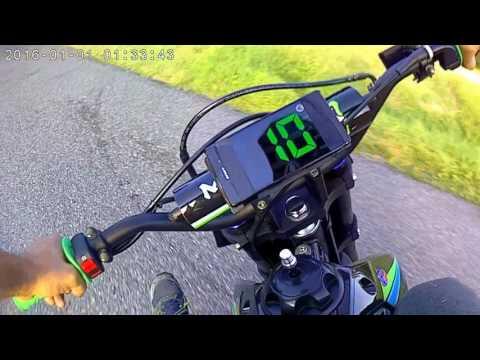 pitbike dirt smx 2017 sx 140cc monster vitesse compteur digital ligne racing 5.0