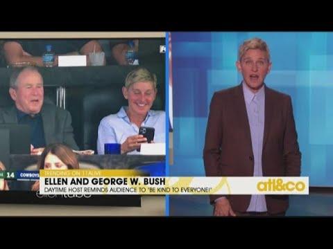 Ellen Defends Her Friendship With George W. Bush