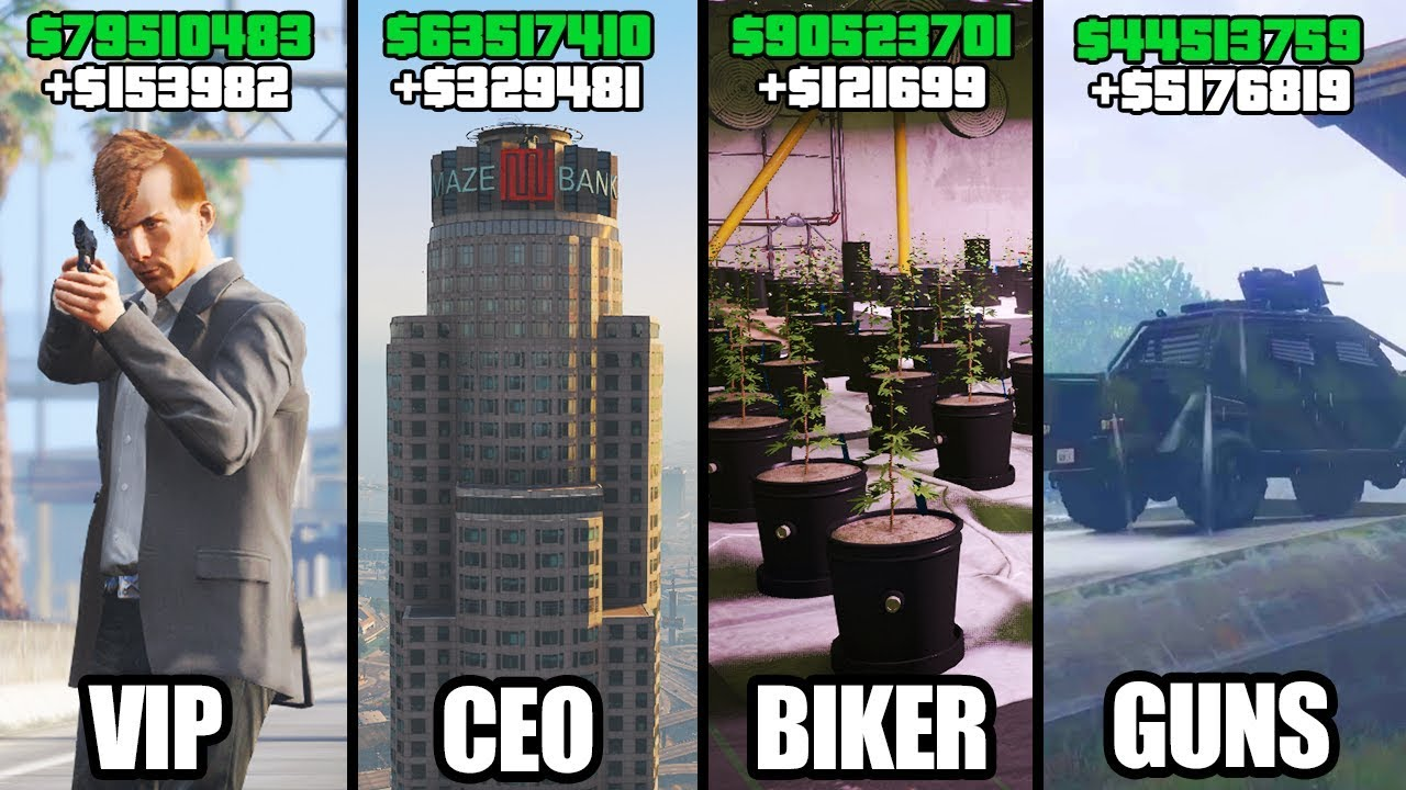 Gta  Online Top  Best Businesses To Buy Make Money Vip Ceo Bikers Gunrunning