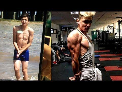 Skinny to Shredded Teen 1419 Motivational Transformation  Brandon Baker