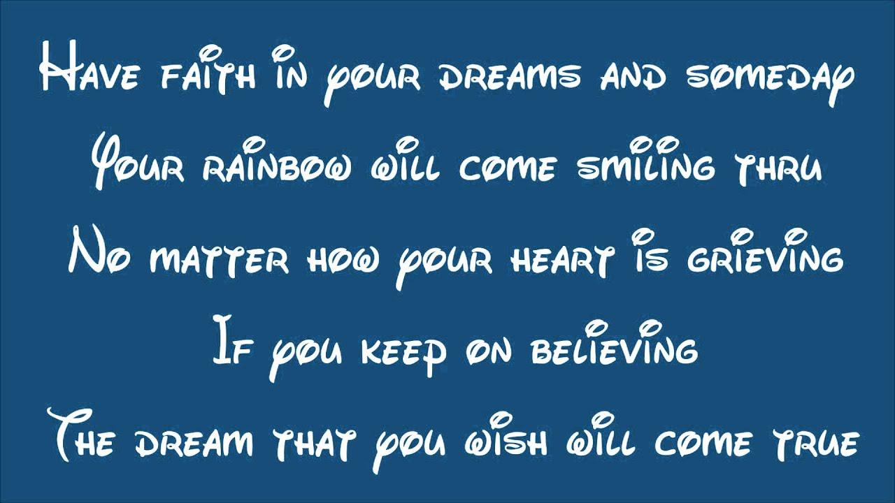 Disney's Cinderella (2015)-A Dream Is A Wish Your Heart ... A Dream Is A Wish Your Heart Makes Lyrics