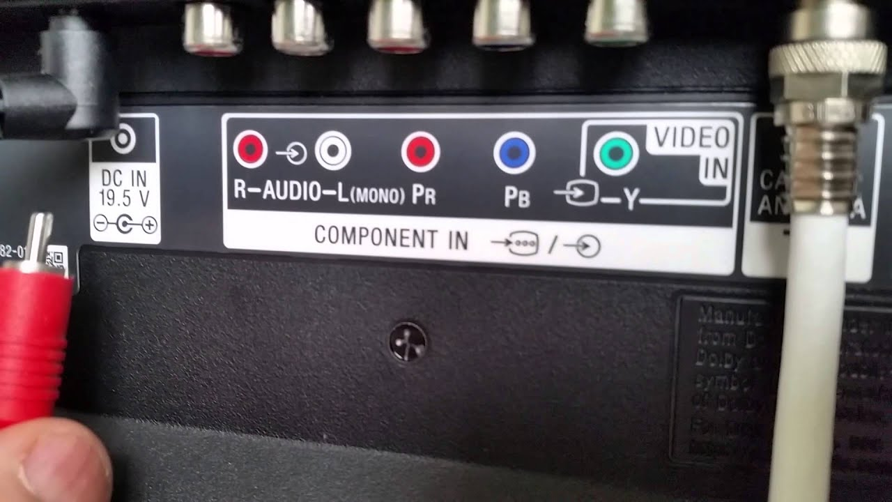 How to connect your Wii to TV audio visual inputs - YouTube
