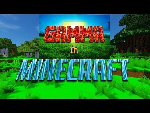how to change minecraft gamma